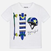 Mayoral Short Sleeved Skate Print T-shirt 3029