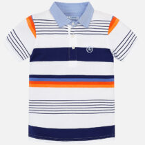 Mayoral Short Sleeved Block Striped Polo Shirt 3114