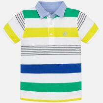Mayoral Short Sleeved Block Stripe Polo 3114