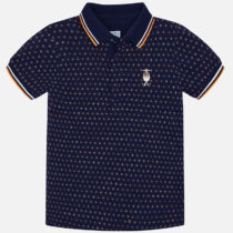 Mayoral Short Sleeve Mini-Patterned Polo 3116