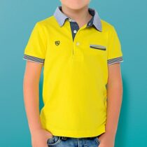 Mayoral Short Sleeved Two-Tone Polo Shirt 3117