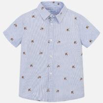 Mayoral Short Sleeved Striped Patterned Shirt 3130
