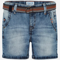 Mayoral Denim Bermuda Shorts with Belt 3228