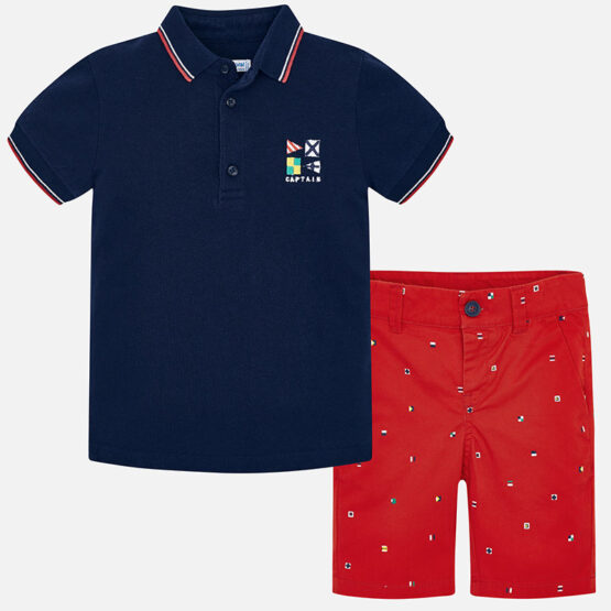 Mayoral Polo Shirt and Bermuda Shorts Set 3245
