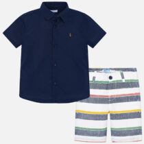 Mayoral Shirt and Striped Shorts Set 3246