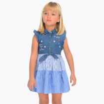 Mayoral Combined Denim Dress 3937