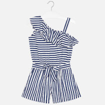 Mayoral Asymmetric Striped Playsuit 6804