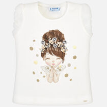 Mayoral Girls Short Sleeved Doll T-Shirt