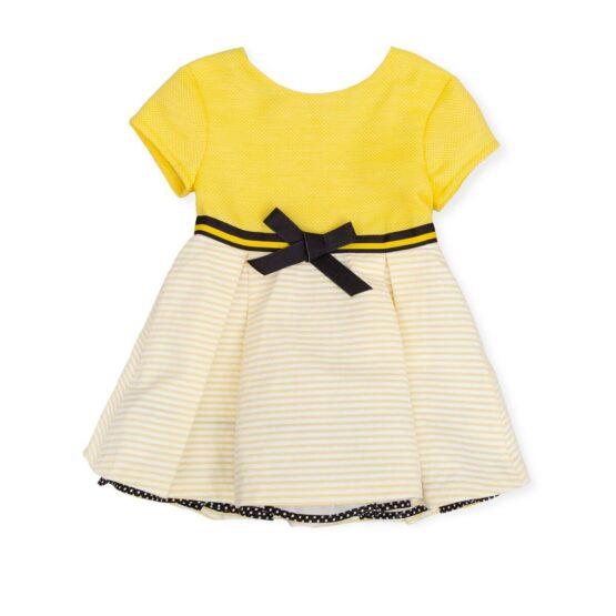Tutto Piccolo Yellow and Black Dress