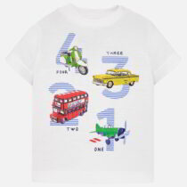 Mayoral Short Sleeved Vehicles Print T-Shirt 1021