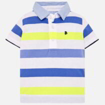 Mayoral Short-Sleeved Striped Polo Shirt 1115