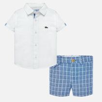 Mayoral Linen Shirt and Shorts Set 1252