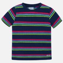 Mayoral Short Sleeved Striped T-Shirt 3037