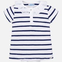 Mayoral Short Sleeved Striped Polo Shirt 3102