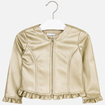 Mayoral Leatherette Ruffled Jacket 3404
