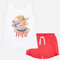 Mayoral Hat Print T-Shirt and Short Set 6212