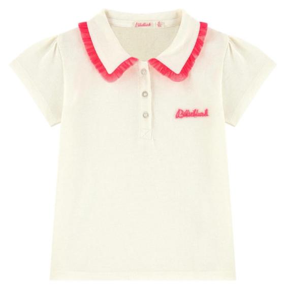 Billieblush Frill Collar Polo Shirt