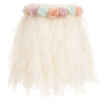 Billieblush Flower Waist Tulle Skirt