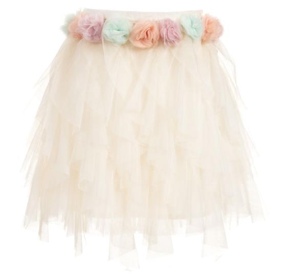 Billieblush Flower Waist Tulle Skirt