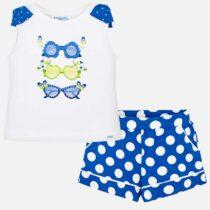Mayoral T-Shirt and Polka Dot Shorts Set 3216