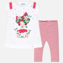 Mayoral Doll Print T-Shirt and Legging Set 3709