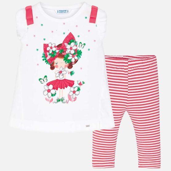 Mayoral Doll Print T-Shirt and Legging Set 3709