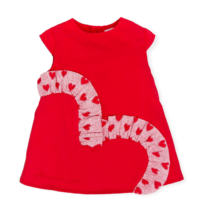 Agatha Red Ruffle Heart Dress