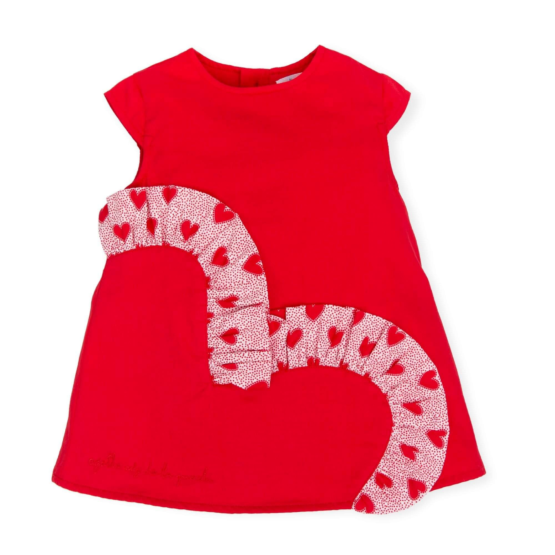Agatha Red Ruffle Heart Dress
