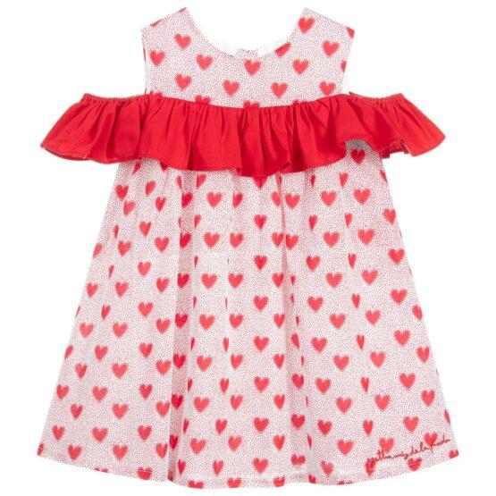 Agatha Heart Pattern Cold Shoulder Dress