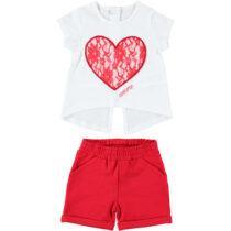 iDo Lace Heart Shorts Set 79100