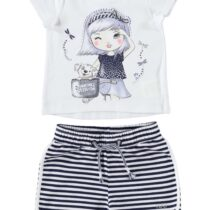 iDo T-Shirt and Striped Shorts Set 76800