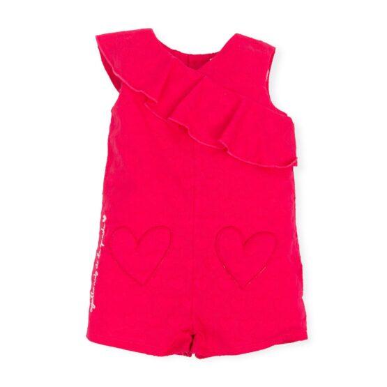 Agatha Pink Ruffle Playsuit