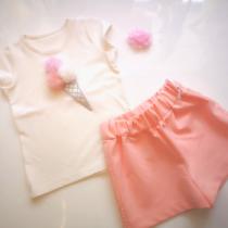 Daga Pink Ice Cream Shorts Set