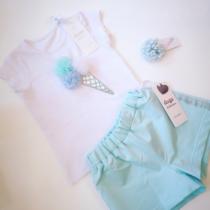 Daga Mint Ice Cream Shorts Set