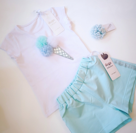 Daga Mint Ice Cream Shorts Set