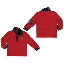 Mayoral Red and Tartan Long Sleeve Polo