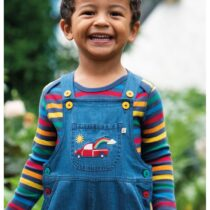Frugi Hopscotch Dungaree with Long Sleeve Tee