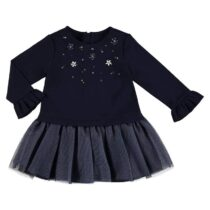 Mayoral Navy Combined Tulle Dress