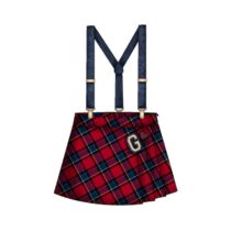 Mayoral Checked Dungaree Skirt