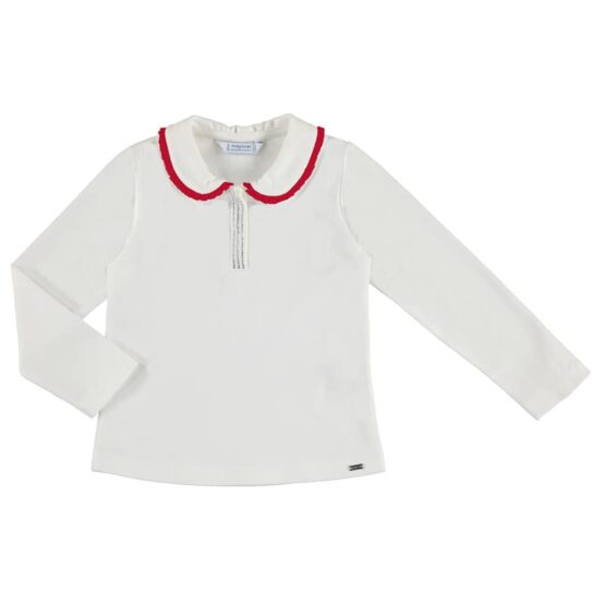 Mayoral Long Sleeve Collared Top