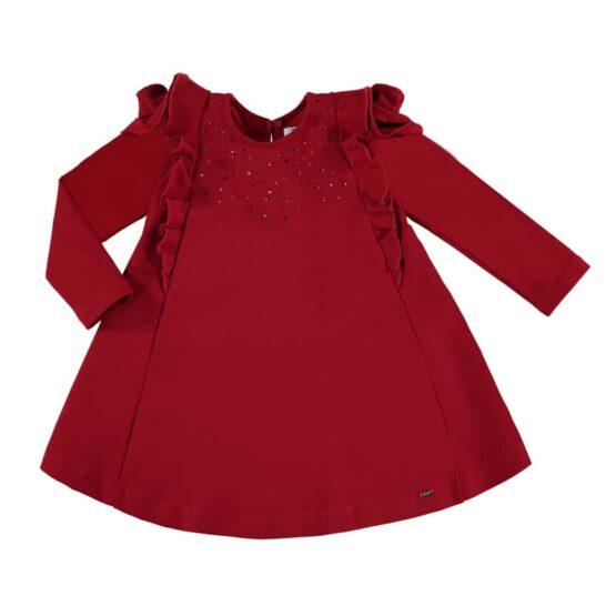 Mayoral Red Studded Dress