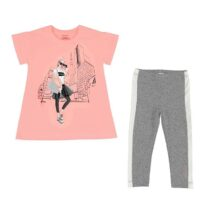 Mayoral City print t-shirt and leggings set 6719 (titanium)