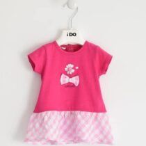 iDO Cheerful and colourful 100% cotton dress with daisy J643