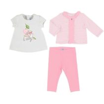 Mayoral Striped jacket with t-shirt and leggings set 1713