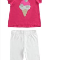 iDO 100% cotton T-shirt with sequined ice cream J767 & Practical fisherman model leggings J199