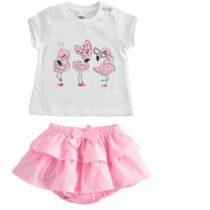 iDO flamingo top & skirt J630