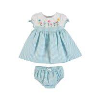 Mayoral Blue Cotton Baby Dress Set