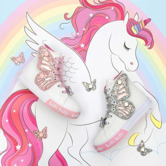 Lelli Kelly Unicorn Wing Hi Tops LK1330