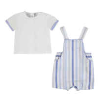 T-shirt and striped dungarees set 1664