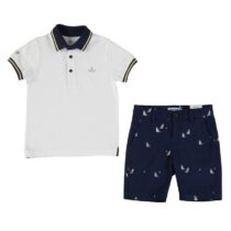 Mayoral polo shirt and patterned shorts 3270